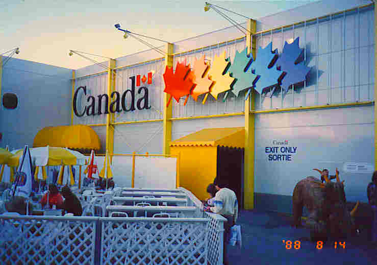 Ethnic minorities featured strongly in the public art for the Canada Pavilion at World Expo '88