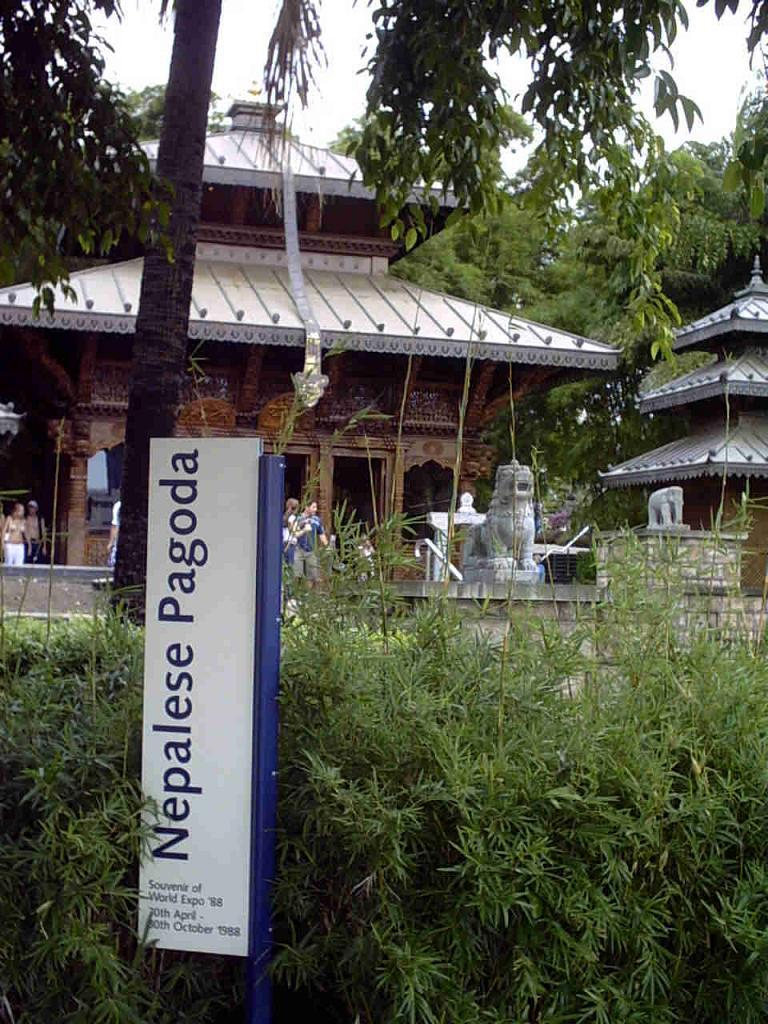 The Nepal Peace Pagoda today at Southbank Parklands